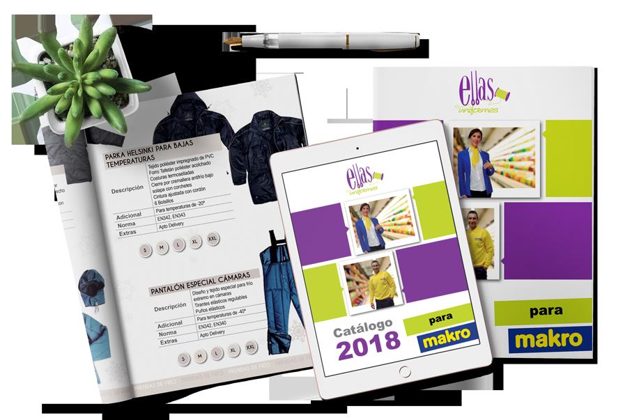 catálogo producto para Ellas Uniformes